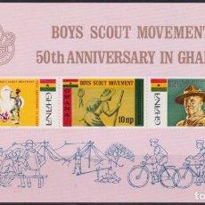 Sellos: F-EX23019 GHANA MNH 1967 50TH ANIV BOYS SCOUTS JAMBOREE BADEM POWELL.. Lote 252717460