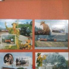 Sellos: SELLOS R. DJIBOUTI (YIBUTI) MTDS/2007/TRENES/LOCOMOTORA/NATURALEZA/SCOUTS/PAISAJE/UNIFORMES/TRASNPOR. Lote 254620245