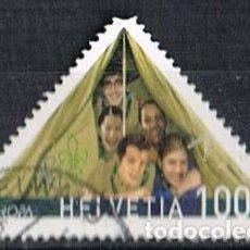 Sellos: SUIZA 2005, CENTENARIO DE LOS BOY SCOUTS, USADO. Lote 268436874