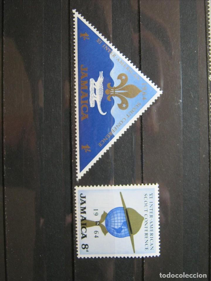 JAMAICA TEMA BOY SCOUTS 1964 MNH** SIN CHARNELA LUJO!!! (Sellos - Temáticas - Boy Scout)