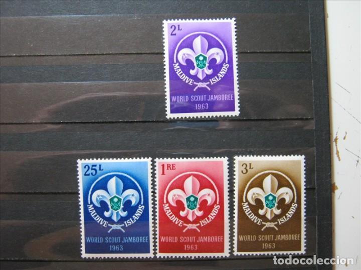 ISLAS MALDIVAS TEMA BOY SCOUTS 1963 MNH** SIN CHARNELA LUJO!!! (Sellos - Temáticas - Boy Scout)