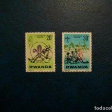 Sellos: /28.07/-RWANDA-1978-Y&T 812;813-20C.;30 C. EN NUEVO(**MNH). Lote 277684488