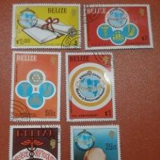 Sellos: SELLOS BELICE MTDOS(6 DE 7V)/1981/75ANIV/CLUB/ROTATORIO/INTERN/LEER REGALO EN DESCRIPCCION. Lote 280446193