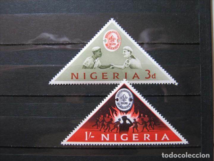 NIGERIA TEMA BOY SCOUTS 1963 MNH** SIN CHARNELA LUJO!!! (Sellos - Temáticas - Boy Scout)