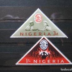 Sellos: NIGERIA TEMA BOY SCOUTS 1963 MNH** SIN CHARNELA LUJO!!!. Lote 281922888