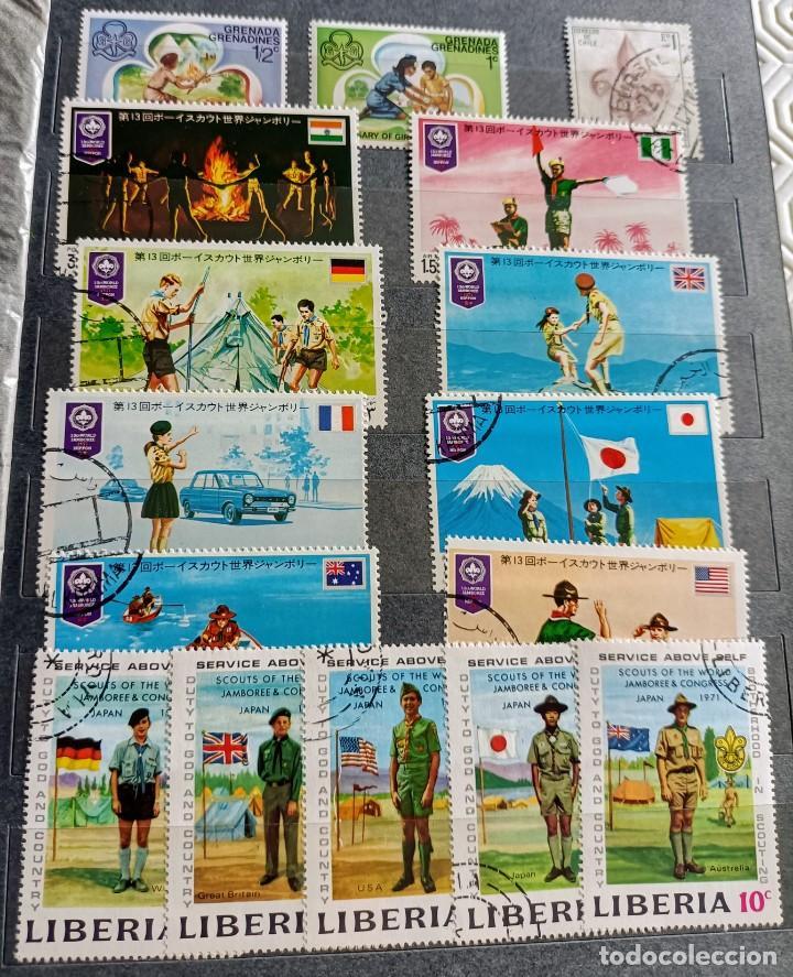 Sellos: Lote de 145 sellos usados de temática Scout - Foto 2 - 283016903