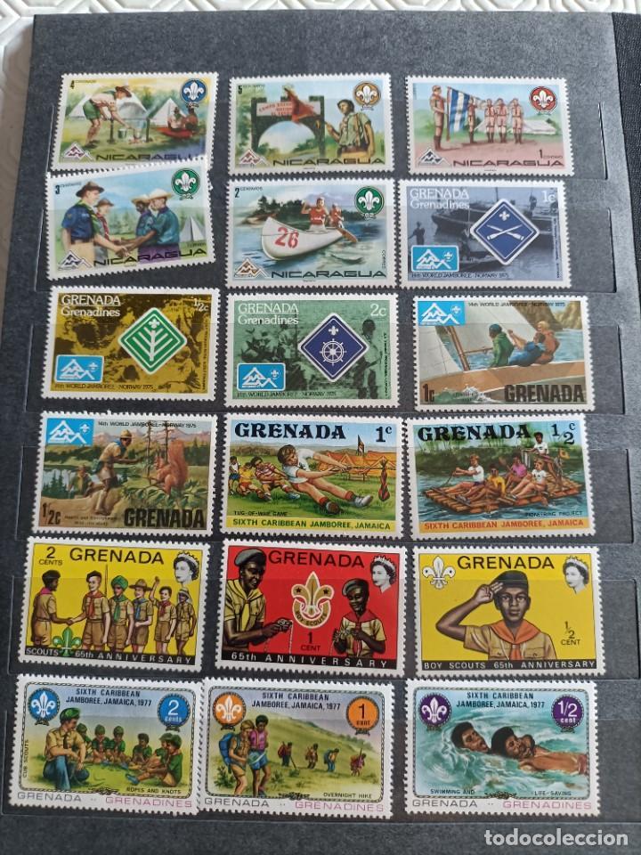 Sellos: Lote de 145 sellos usados de temática Scout - Foto 3 - 283016903