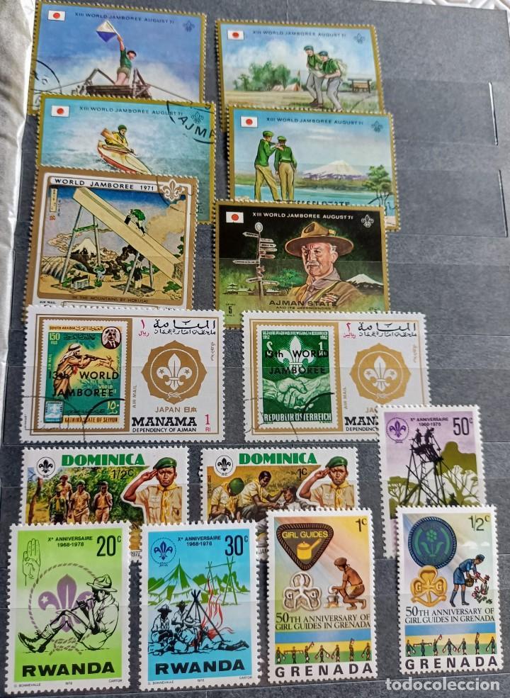 Sellos: Lote de 145 sellos usados de temática Scout - Foto 4 - 283016903
