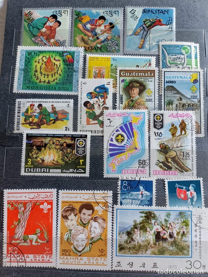 Sellos: Lote de 145 sellos usados de temática Scout - Foto 5 - 283016903