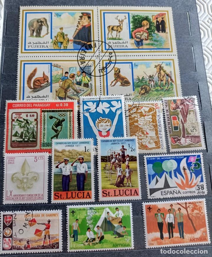 Sellos: Lote de 145 sellos usados de temática Scout - Foto 6 - 283016903
