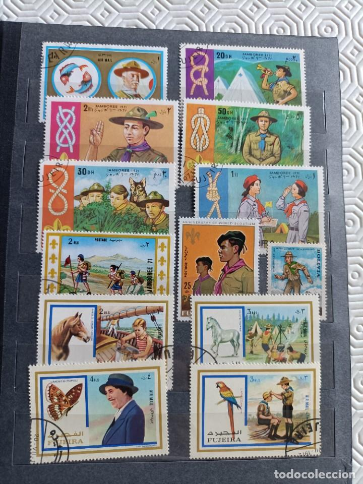 Sellos: Lote de 145 sellos usados de temática Scout - Foto 8 - 283016903