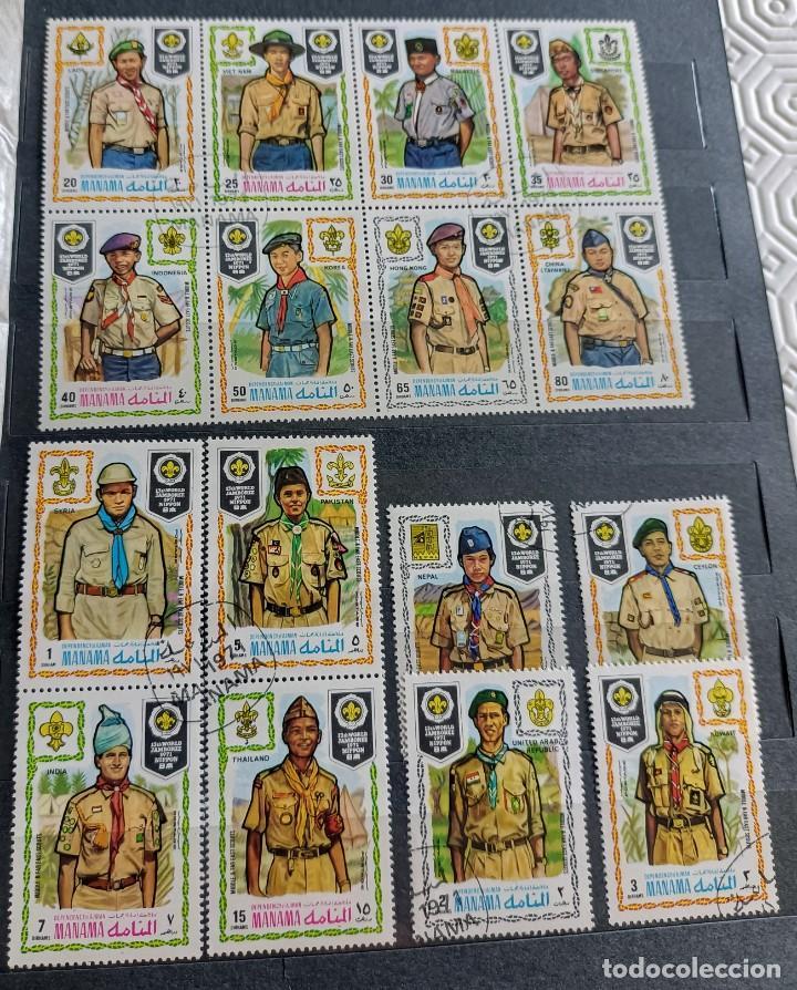 Sellos: Lote de 145 sellos usados de temática Scout - Foto 9 - 283016903