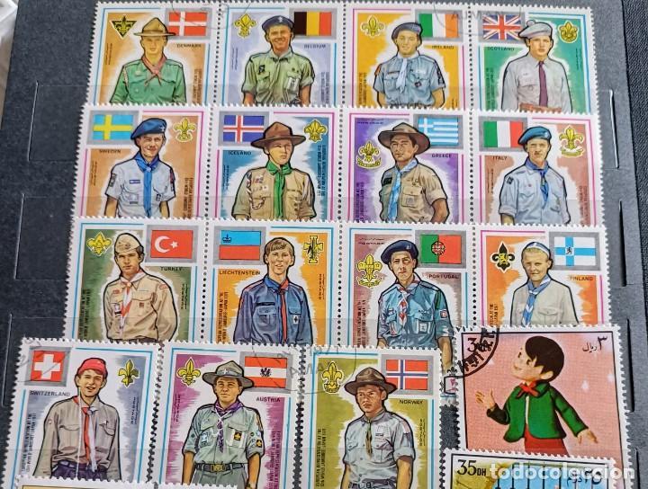 Sellos: Lote de 145 sellos usados de temática Scout - Foto 10 - 283016903