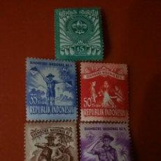 Sellos: SELLO R. INDONESIA NUEVO/1955/NACIONAL/SCOUT/JAMBOREE/CIERVO/NATURALEZA/EMBLEMA/UNIFORME/BANDERIN/HO. Lote 286363228