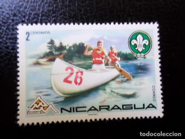 *NICARAGUA, 1975, 14 JAMBOREE MUNDIAL EN NORUEGA, YVERT 1021 (Sellos - Temáticas - Boy Scout)