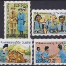Sellos: F-EX26802 DOMINICA MNH 1985 GIRL GUIDING BOYS SCOUTS JAMBOREE.. Lote 293289118