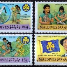 Sellos: F-EX26883 MALDIVES MNH 1987 GIRL GUIDING BOYS SCOUTS JAMBOREE.. Lote 293289143