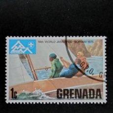 Sellos: SELLO MUNDIAL TEMÁTICO BOY SCOUTS- GRENADA- BOL 34-1. Lote 295368218
