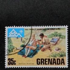 Sellos: SELLO MUNDIAL TEMÁTICO BOY SCOUTS- GRENADA- BOL 34-1. Lote 295368278
