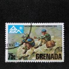 Sellos: SELLO MUNDIAL TEMÁTICO BOY SCOUTS- GRENADA- BOL 34-1. Lote 295368298