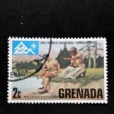 Sellos: SELLO MUNDIAL TEMÁTICO BOY SCOUTS- GRENADA- BOL 34-1. Lote 295368613