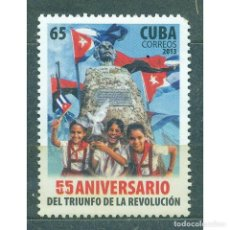 Sellos: ⚡ DISCOUNT CUBA 2013 THE 55TH ANNIVERSARY OF THE REVOLUTION MNH - FLAGS, REVOLUTION, JOSE MA. Lote 296027263