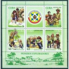 Sellos: ⚡ DISCOUNT CUBA 2002 PIONEER EXPLORERS, SCOUTS MNH - PIONEERS. Lote 296032203