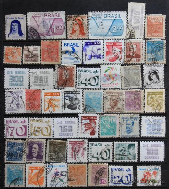 BRASIL 50 SELLOS USADOS....................BRA-01 (Sellos - Extranjero - América - Brasil)