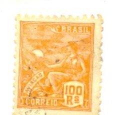 Sellos: 2BRASIL-17/3. SELLO USADO BRASIL. YVERT Nº 17/3.100 RS, AÑO 1920/41. BÁSICA. MUJER. Lote 24407583