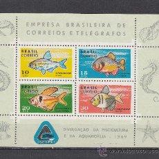Sellos: BRASIL HB 23 SIN CHARNELA, FAUNA, PECES, PROTECCION PISCICOLA, . Lote 26396679