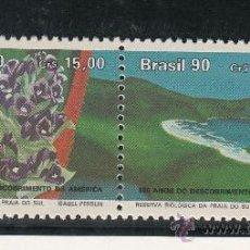 Sellos: BRASIL 1986A SIN CHARNELA, TEMA UPAEP, EL MEDIO NATURAL QUE VIERON LOS DESCUBRIDORES, . Lote 26397210