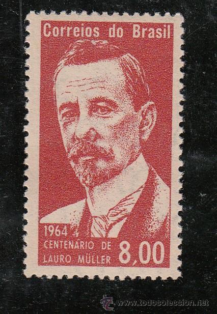 BRASIL 752 SIN CHARNELA, CENTENARIO NACIMIENTO DEL ESTADISTA LAURO MULLER (Sellos - Extranjero - América - Brasil)