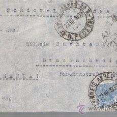 Sellos: CARTA DE RÍO DE JANEIRO A BRAUNSCHEIG. DE 23 DE MARZO DE 1939. BONITA.. Lote 26763265