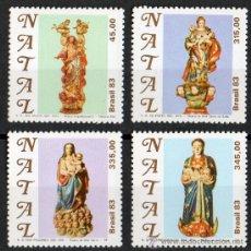 Sellos: BRASIL AÑO 1983 YV 1628/31*** NAVIDAD - RELIGIÓN - ESCULTURA - ARTESANÍA - ARTE. Lote 29731411