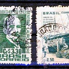 Sellos: BRASIL.- PUERTOS Y CENTENARIO DEL NACIMIENTO DEL GENERAL LAURO SOORE.-. Lote 30176926