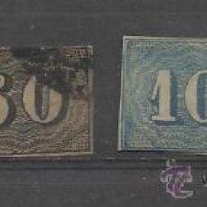Sellos: OPORTUNIDAD UNICA SELLOS DE BRASIL DE 1850/1866 MATASELLADOS MAS DE 200 € DE CATALOGO. Lote 31533186
