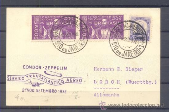 1932.- RIO DE JANEIRO A LORCH (ALEMANIA) (Sellos - Extranjero - América - Brasil)