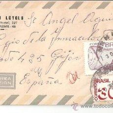Selos: SOBRE SELLOS BRASIL VIA AEREA AÑOS 70. Lote 35908407