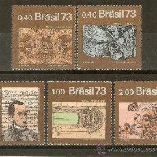 Sellos: BRASIL YVERT NUM. 1070/4 ** SERIE COMPLETA SIN FIJASELLOS . Lote 37219018