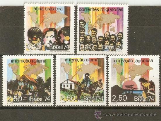 BRASIL YVERT NUM. 1101/5 ** SERIE COMPLETA SIN FIJASELLOS (Sellos - Extranjero - América - Brasil)