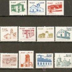 Sellos: BRASIL 1986/7 SERIE BASICA ** SERIE COMPLETA SIN FIJASELLOS PATRIMONIO ARTISTICO. Lote 37227545