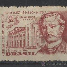 Sellos: BRASIL CENTENARIO DE LUIZ DE MATOS RACIONALISMO CRISTIANO. Lote 37366926