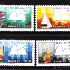 Sellos: BRASIL 1361/64** AÑO 1979 - BARCOS VELEROS - BRASILIANA 79 EXPOSICION MUNDIAL DE FILATELIA TEMATICA. Lote 44877297