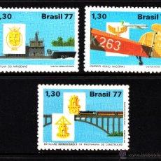 Sellos: BRASIL 1293/95* - AÑO 1977 - DESARROLLO NACIONAL - TRENES - AVIONES - BARCOS. Lote 44891761