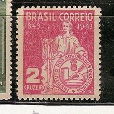 Sellos: BRAZIL ** & CENT. DO INSTITUTO DOS ADVOGADOS BRAZILEIROS 1943 (410). Lote 44988078