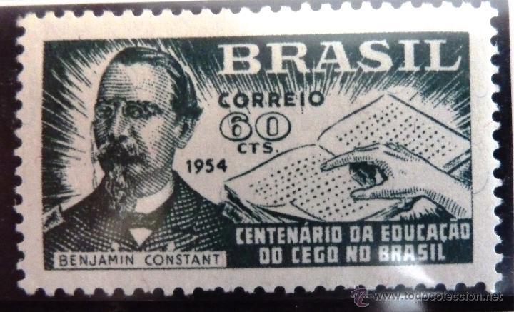 SELLOS BRASIL 1954. NUEVO CON CHARNELA. CENTENARIO EDUCACION DE LOS CIEGOS. (Sellos - Extranjero - América - Brasil)