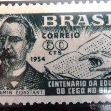 Sellos: SELLOS BRASIL 1954. NUEVO CON CHARNELA. CENTENARIO EDUCACION DE LOS CIEGOS.. Lote 47865237