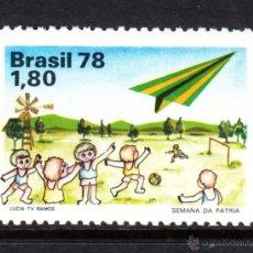 Sellos: BRASIL 1324** - AÑO 1978 - SEMANA DE LA PATRIA. Lote 48895103