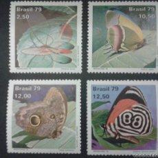 Sellos: SELLOS DE BRASIL. YVERT 1374/7. SERIE COMPLETA NUEVA *** FAUNA. INSECTOS. MARIPOSAS. Lote 53033705