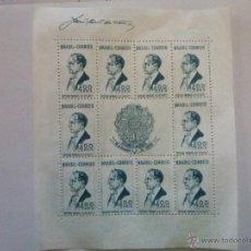 Sellos: BRASIL, HB HOJITA 1938 YVERT Nº 2 , NUEVA SIN GOMA, PERFECTO ESTADO. Lote 53411196
